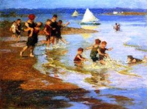 edward-henry-potthast-children-at-play-on-the-beach