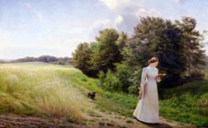 lady-in-white-reading-emilie-caroline-mundt