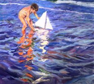 The-Young-Yachtsman-1909-xx-Joaquin-Sorolla-y-Bastida