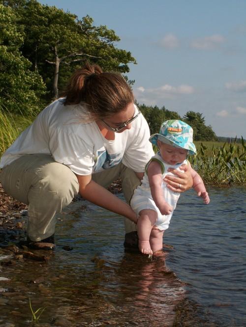 First dip in Kejimikujik lake