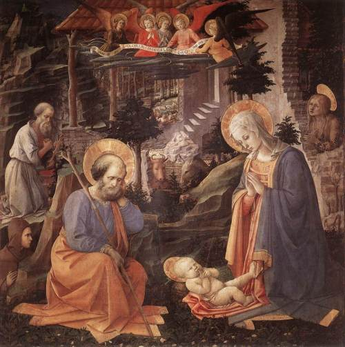 Adoration of the Child by Filippo Lippi.