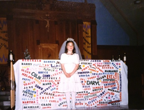 First Holy Communion, age 7