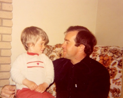 Me and my dad when  I was four